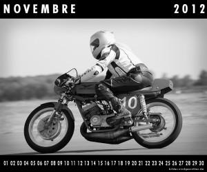 Motorrad Guzzi Kalender November Novembre 2012