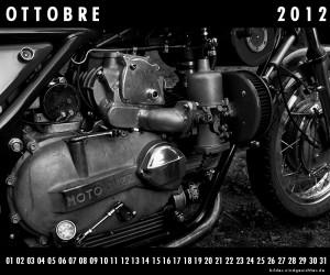Motorrad Guzzi Kalender Oktober Ottobre 2012