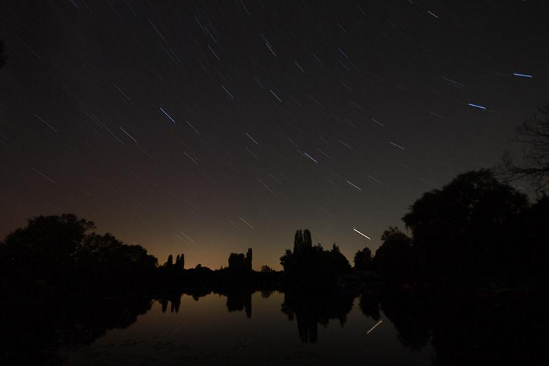 Sternenhimmel am Teich