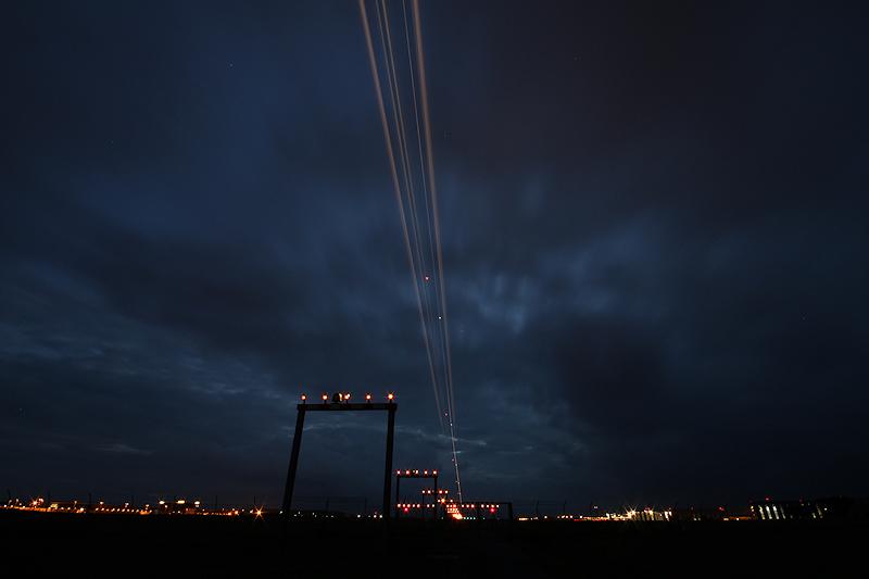 Nightshot am Flughafen Hannover